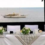 wedding Amalfi reception see view