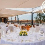 Roof top Terrace Wedding Breakfast