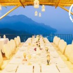 amalfi coast wedding breakfast