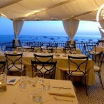 sea view wedding breakfast italy